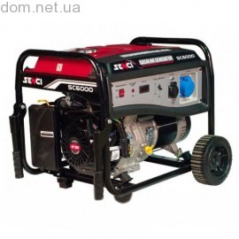 Генератор бензиновый SENCI SC 6000-М (5.0-5.5 кВт), р.с.